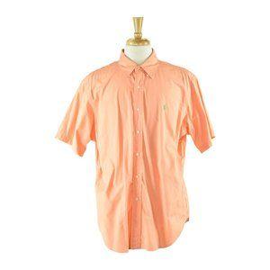 Ralph Lauren Button Down Shirt XL Orange
